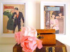 decorar con revistas vintage
