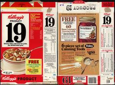 Kellogg's - Product 19 - free canning lables - cereal box - 1977 by JasonLiebig, via Flickr