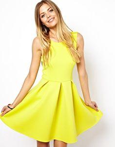 Image 1 ofASOS Skater Dress In Bonded Fabric