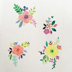 Painting #illustration #paint #watercolour #floral #flowers