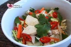 Hayley's Cuisine: Vietnamilainen broilerisalaatti + konsti takuumehukkaisiin kanafileisiin