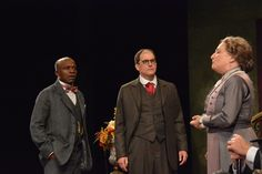 Sharon Lockwood, L. Peter Callender and Anthony Fusco at the Pygmalion dress rehearsal. Photo by Jay Yamada.