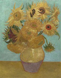 Van Gogh, Sunflowers, January 1889. Oil on canvas, 92 x 72.5 cm