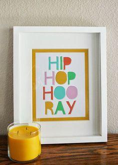Hip Hop Hooray Easter Print