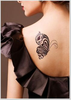 Upper-Back-Butterfly-Tattoos