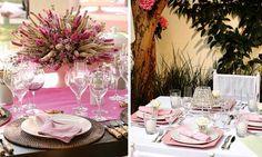 Festa de casamento: Não sou fã de rosa, mas ao AR LIVRE e combinando com o estilo RÚSTICO, não posso negar, me conquistou *-*