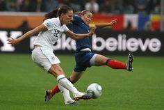 75 DAYS UNTIL USWNT VS. FRANCE  #12 Lauren Cheney - USA; #10 Camille Abily- France