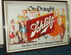 Schlitz Schlitzerland Beer Tray Wall Clock Joseph Schlitz Brewing Co Milwaukee
