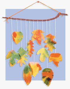 Tie-Dye Leaf Mobile Craft for Kids