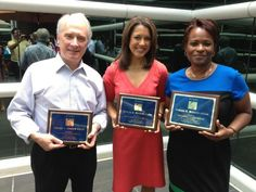 This is a photo from WUSA's Lesli Foster, Stephanie Wilson and Al Calogero after they won the prestigious Edward R. Murrow award. We are so proud of them!