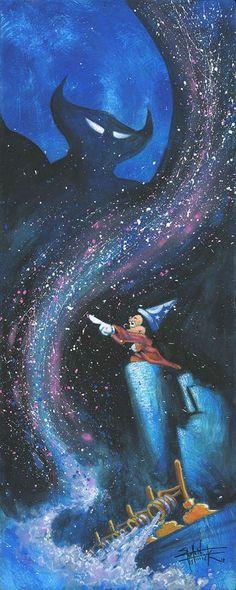 """Wicked Darkness"" by Stephen Fishwick | Disney Fine Art | Disney's Fantasia"