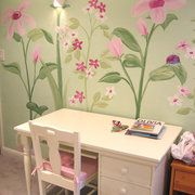 Wall murals for kids rooms...get contact from Christina.  Lauren = flower garden.  Gabe = sock monkeys.