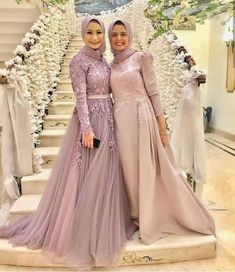 65 Ideas wedding party outfits friends for 2019 Hijab Prom Dress, Muslimah Wedding Dress, Hijab Evening Dress, Muslim Wedding Dresses, Muslim Dress, Evening Dresses, Prom Dresses, Hijabi Gowns, Tea Length Bridesmaid Dresses
