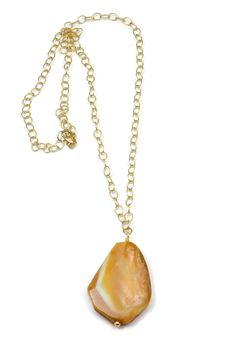 "Agate on gold filled chain, 24"" Necklace,Item #S215 