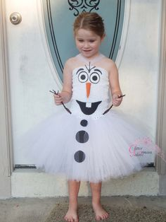 Olaf inspired tutu dress Halloween Costume by GlitterPrincessGalo2