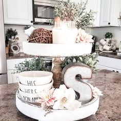 Soft Floral spring inspired tray | Farmhouse