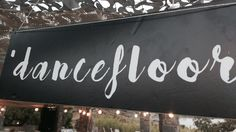 Dancefloor banner, wedding deco, lafetegr