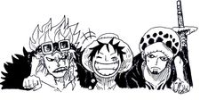 Luffy, Kid, and Law   One Piece