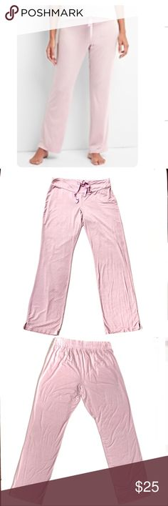 """GAP Maternity Modal Sleep Pants Size XS Pale Pink Dots Modal/Spandex Sits low on waist Relaxed fit Inseam 29.5"""" Super soft modal jersey Drawcord ties with elastic waist Excellent Used Condition Worn 1-2 times GAP Intimates & Sleepwear Pajamas"""
