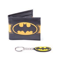 Batman - Giftset Wallet Keyring Black/Yellow