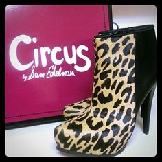 NWOT Release Your Alter Ego!!! NWOT Jacey - Leopard print (Real Fur) with leather 4 inch heel. Sam Edelman Shoes