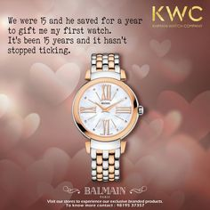 When time flies and you stay on. #Balmain #KWC Contact us on 9819537357