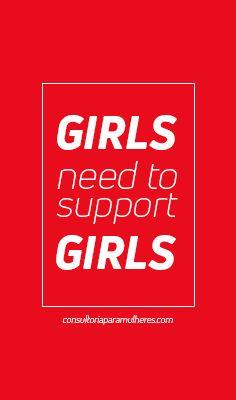 Girls need to support Girls! Vamos juntas!!! #empreendedorismo #girlspower