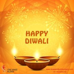 On the auspicious festival of lights, May the glow of joy, Prosperity and happiness. Illuminate your days in the year ahead.    The Knee Klinik wishing you a very Happy Diwali http://www.kneeandjointsurgery.com/