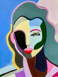 Fine art giclee print of an original acrylic painting of mine. The overall size is Includes approx. Abstract Face Art, Abstract Portrait, Bright Colors Art, Nyc Art, Maquillage Halloween, Figure Painting, Indian Art, Unique Art, Art Inspo