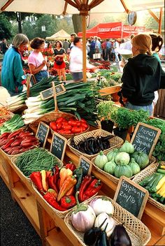 I love the smell of fresh fruits & vegetables at the Farmer's Market.