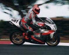 WSB. Anthony Gobert scored Bimota's last win in 2000 riding the SB8R which was essentially a rebadged Suzuki TL100R Racing Motorcycles, Motorcycle Helmets, Custom Motorcycles, Ducati, Yamaha, Road Racing, Sport Bikes, Motogp, Motorbikes