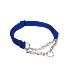 Coastal Check Adjustable Blue Training #Collar For Dogs
