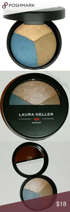 Laura Geller Baked Eye Pie Shadow Trio DISCONTINUED - NO LONGER SOLD  New - Never Used  Full Sz & Authentic  Color: Blueberry Muffin  Featuring 3 slices of pure, baked-in color, its silky, shimmery dome comes in a full-sized, portable compact. At home or on-the-go, you'll love the delightful shades of blueberry icing, matte gray & shimmering sugar syrup that can be used to highlight, contour & emphasize the eyes.  Check my page for more items to bundle with! #oneinamillionjillian Laura…