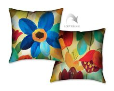 Laural Home Summer Floral I Throw Pillow #LauralHome #Contemporary
