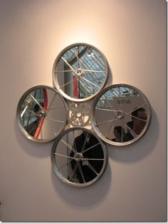 Bicycle Part Wall Mirror