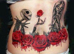 Nightmare Before Christmas Tattoos (Pt2) | Inked Magazine | A dozen awesome Tatts sending up The Tim Burton classic 'holiday' flick. Number 8 is the Corpse Bride though - of which a very astute person made mention of. LoL.