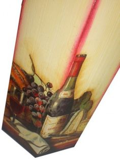 Caixa Porta Vinho com Pátina Riscada
