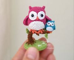 Cute Little Amigurumi Owl : Crochet cute little owls with free pattern free pattern owl and