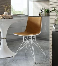 Audley Dining Chair - Amber/ White || GratsDecor.com