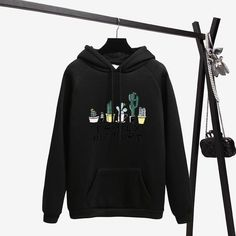 Buy Winter Coat Loose Thick Hoodies Women Sweatshirt Kawaii Cactus Family Picture Harajuku Pullover Office Lady Feminino Clothes - - and Find more Women's Hoodies & Sweatshirts enjoy up to off. Thick Hoodies, Boutique, Hooded Sweatshirts, Sweaters For Women, Harajuku, Pullover, Style Fashion, Curvy Fashion, New Fashion