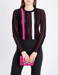 PROENZA SCHOULER Striped knitted top