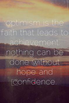 •optimism•