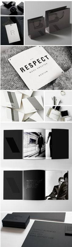 Respect Menswear by julia grayson in awesome #black #identity #packaging PD