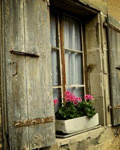 rustic window box
