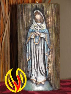 YLEANA CANDLES: Linea Religiosa Diy Crafts For Gifts, Candels, Catholic Art, Sacred Art, Stop Motion, Pewter, Blessed, Carving, Country
