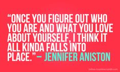 Agree (and I never thought I'd quote Aniston)