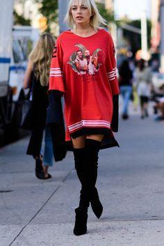 Resultado de imagen para knee boots fashion new york