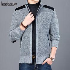 Fashion Brand, New Fashion, Korean Fashion, Fashion Outfits, Fashion Beauty, Mens Zip Up Cardigan, Men Sweater, Sweater Cardigan, Polyester Material