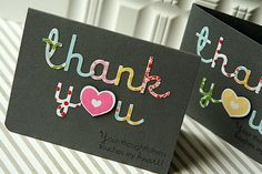 Cute cards, and some great hints on how to work with the die cut letters.