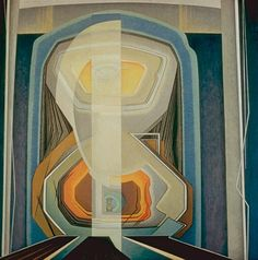 abstract painting no. 20- lawren harris (30's) harris' abstractions are actually just representations of theosophy. not self referencial like most modern abstraction- interesting to note that this is still representative.